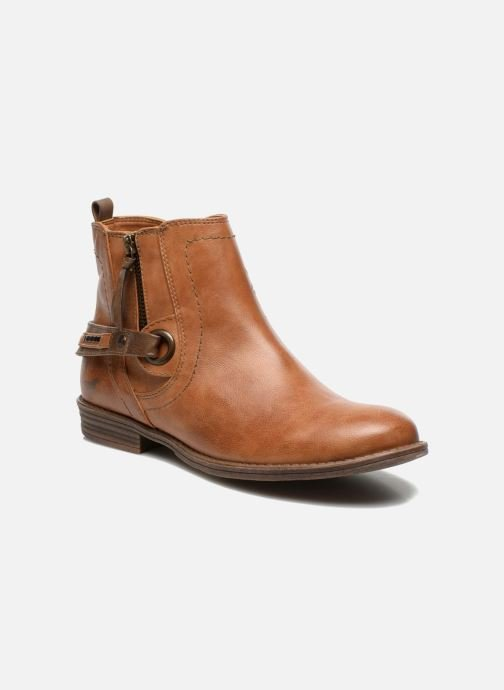 Ankle boots Mustang shoes Isauris Brown detailed view/ Pair view