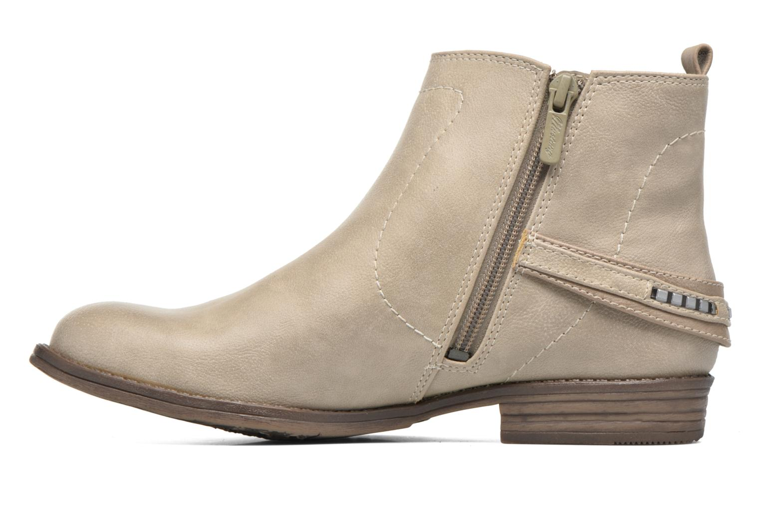 Bottines et boots Mustang shoes Isauris Beige vue face