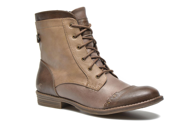 Bottines et boots Mustang shoes Toldil Marron vue détail/paire