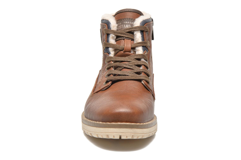 Boots en enkellaarsjes Mustang shoes Legsar Bruin model
