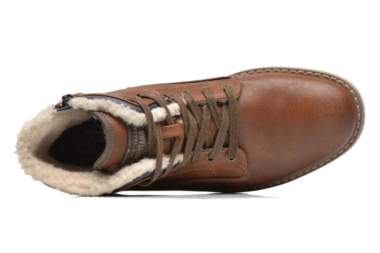 Boots en enkellaarsjes Mustang shoes Legsar Bruin links
