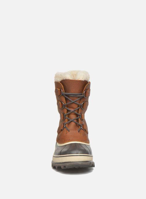 Sportschuhe Sorel Caribou WL weinrot schuhe getragen