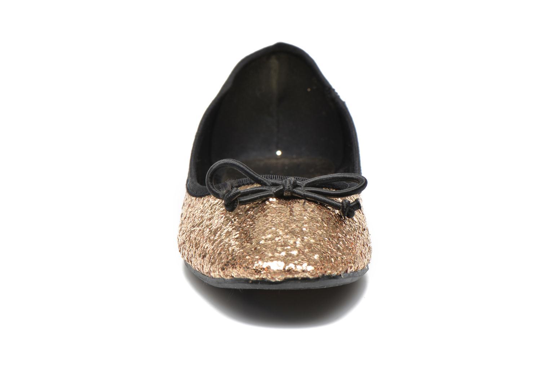 Ballerines Spot On Sofia Or et bronze vue portées chaussures