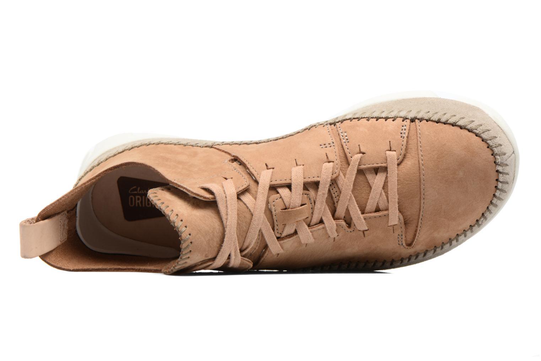Baskets Clarks Originals Trigenic Flex M Marron vue gauche