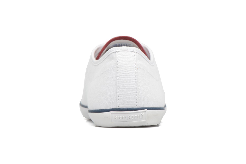 Baskets Le Coq Sportif Slimset CVS Blanc vue droite