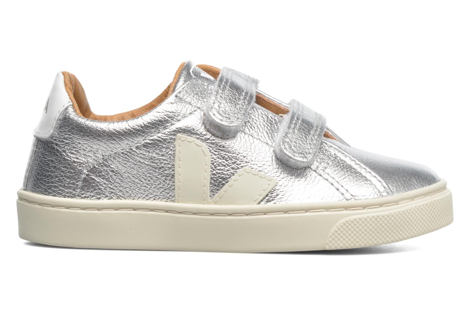 Trainers Veja Esplar Small Velcro Leather Silver back view