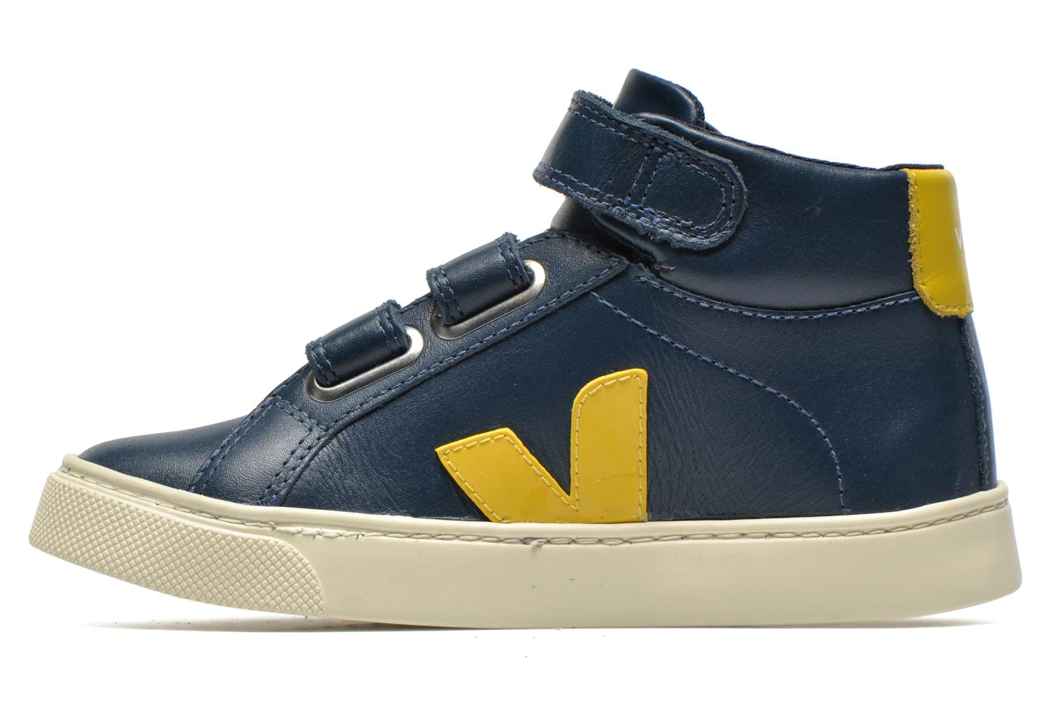 Baskets Veja ESPLAR MID SMALL VELCRO LEATHER Bleu vue face