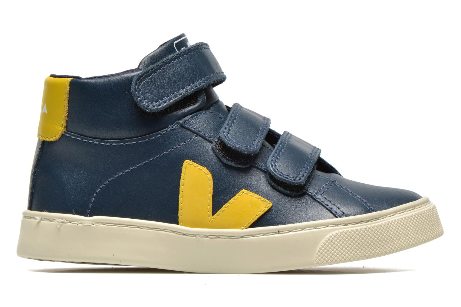 Baskets Veja ESPLAR MID SMALL VELCRO LEATHER Bleu vue derrière