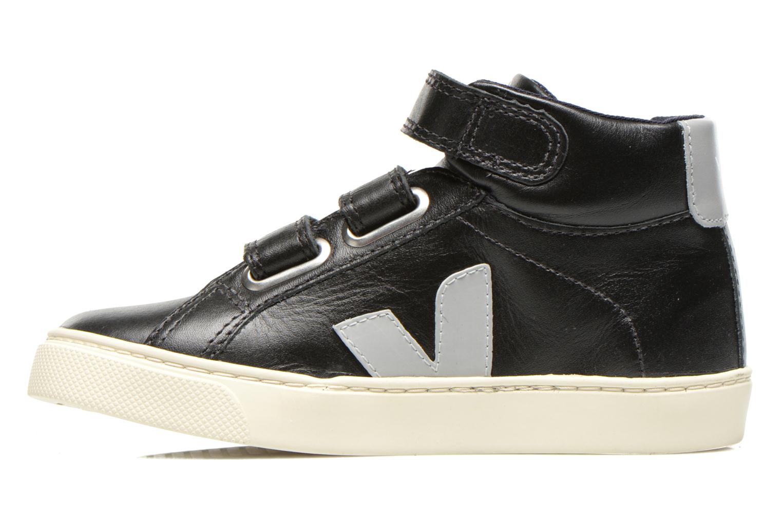Baskets Veja ESPLAR MID SMALL VELCRO LEATHER Noir vue face
