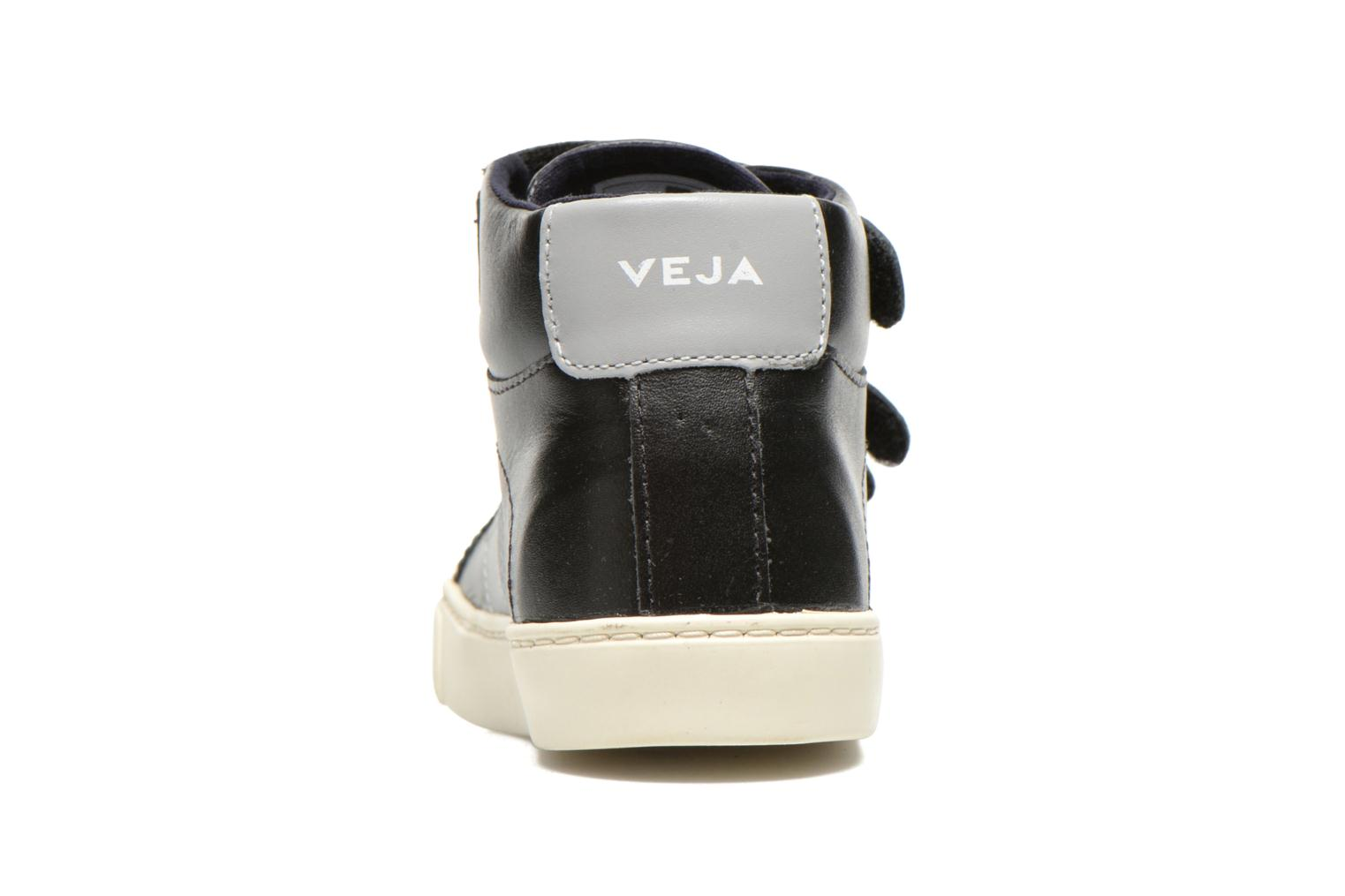 Baskets Veja ESPLAR MID SMALL VELCRO LEATHER Noir vue droite