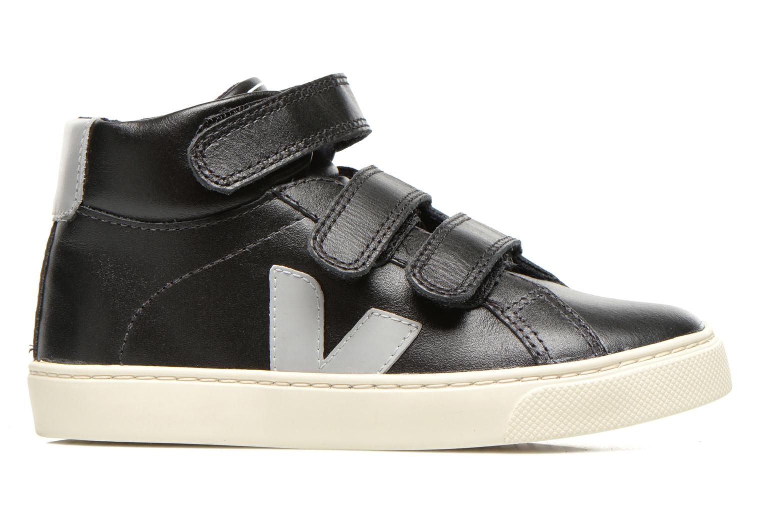 Baskets Veja ESPLAR MID SMALL VELCRO LEATHER Noir vue derrière