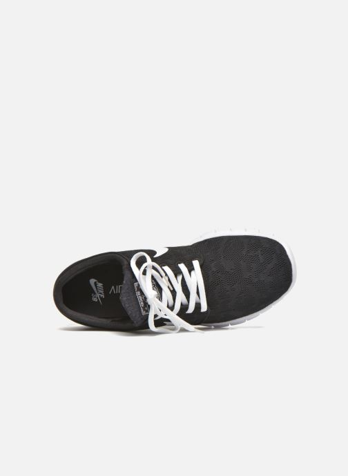Trainers Nike Stefan Janoski Max Black view from the left