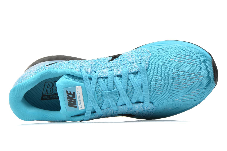 Chaussures de sport Nike Wmns Nike Lunarglide 7 Bleu vue gauche
