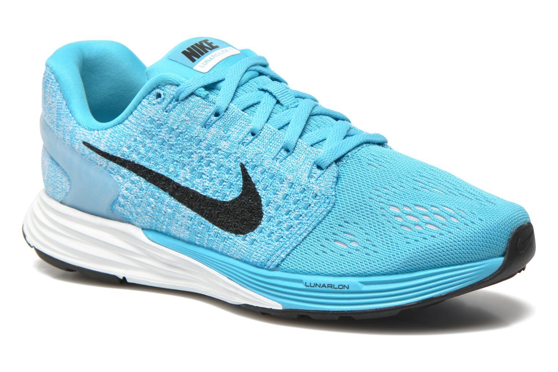 Chaussures de sport Nike Wmns Nike Lunarglide 7 Bleu vue détail/paire