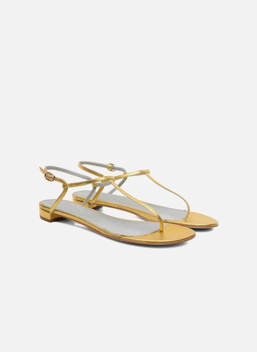 Sandales et nu-pieds Sergio Rossi Elda Or et bronze vue 3/4
