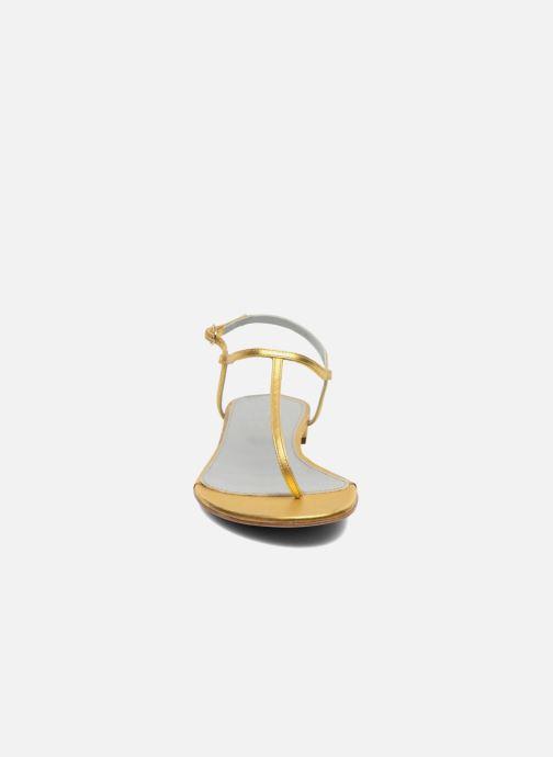 Sandales et nu-pieds Sergio Rossi Elda Or et bronze vue portées chaussures