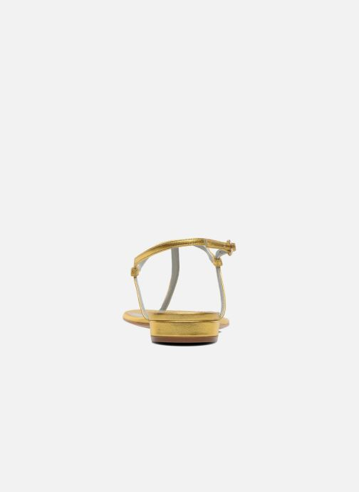 Sandales et nu-pieds Sergio Rossi Elda Or et bronze vue droite