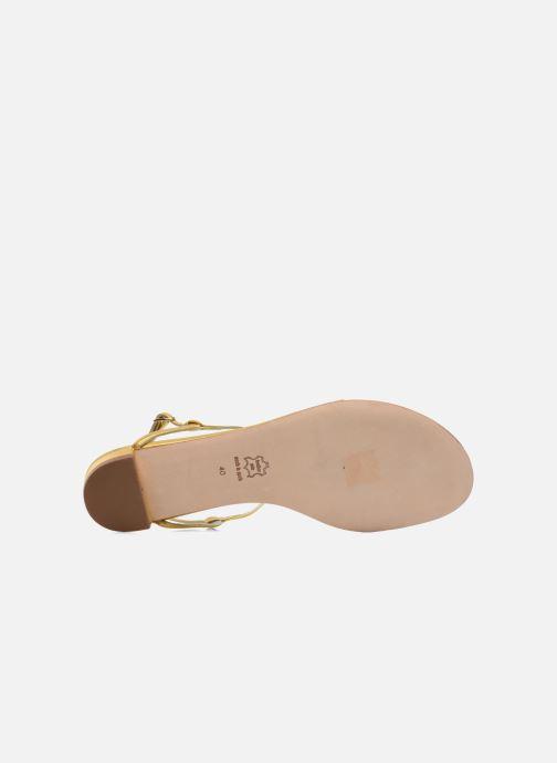 Sandales et nu-pieds Sergio Rossi Elda Or et bronze vue haut