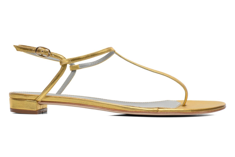 Sandales et nu-pieds Sergio Rossi Elda Or et bronze vue derrière