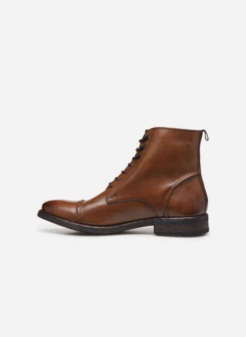 Bottines et boots Base London Clapham Marron vue face