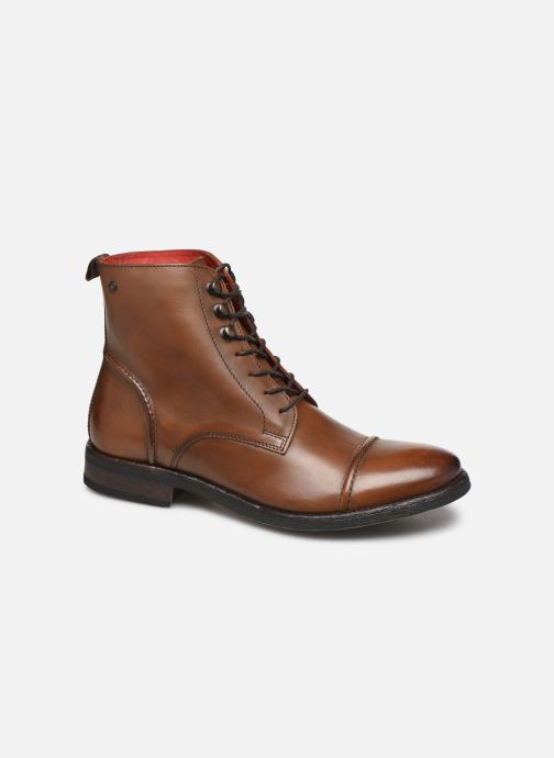 Boots en enkellaarsjes Base London Clapham Bruin detail
