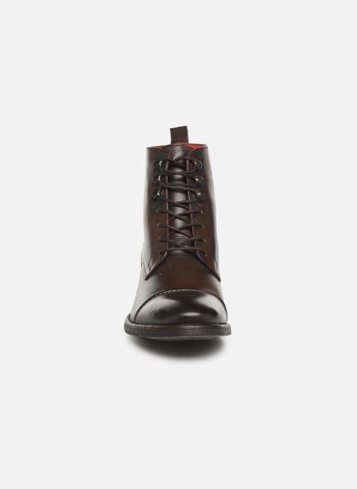 Bottines et boots Base London Clapham Marron vue portées chaussures