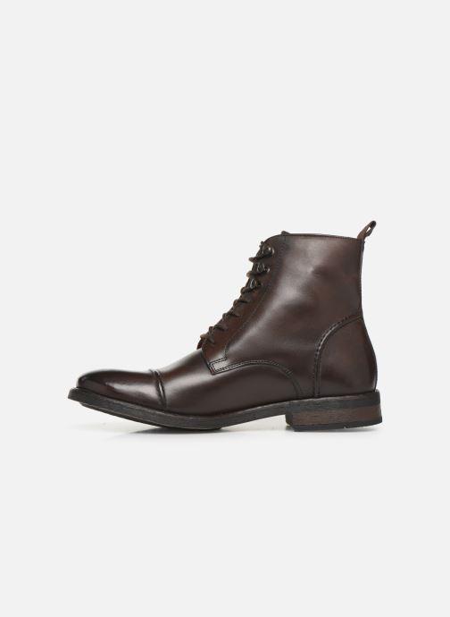 Boots en enkellaarsjes Base London Clapham Bruin voorkant
