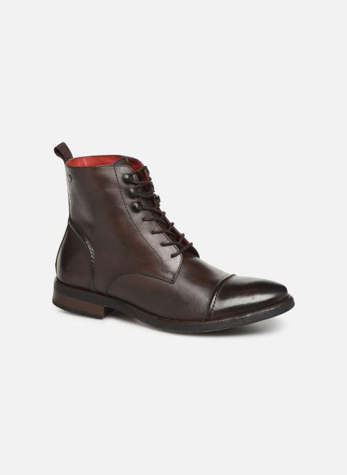Boots en enkellaarsjes Base London Clapham Bruin detail