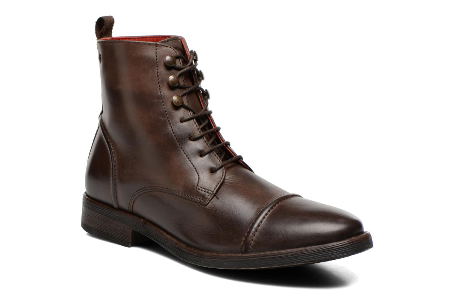 Bottines et boots Base London Clapham Marron vue détail/paire