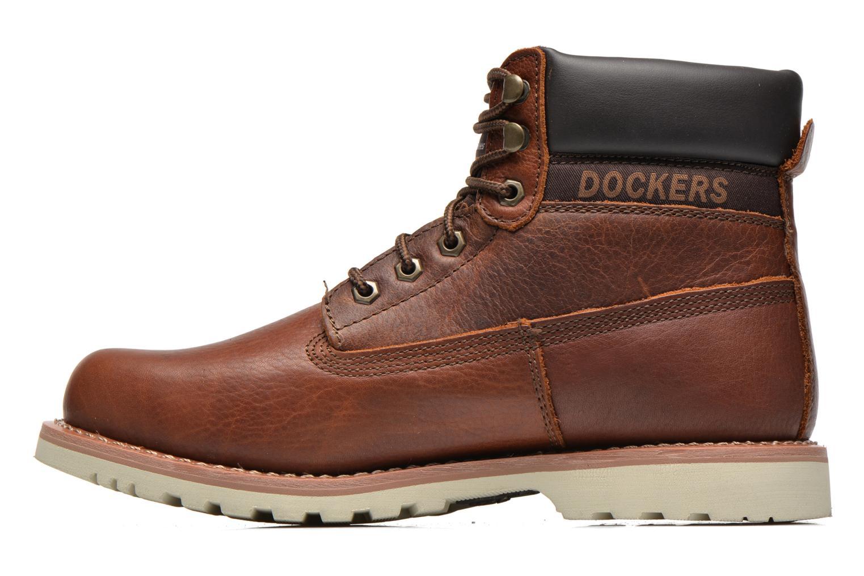 Bottines et boots Dockers Olivier Marron vue face