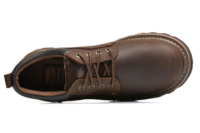 Chaussures à lacets Dockers Vinc Marron vue gauche