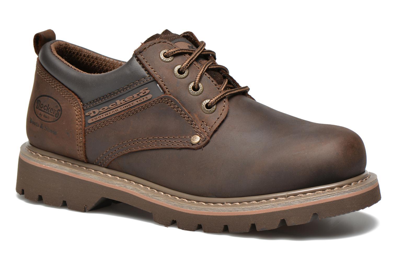 Chaussures à lacets Dockers Vinc Marron vue détail/paire