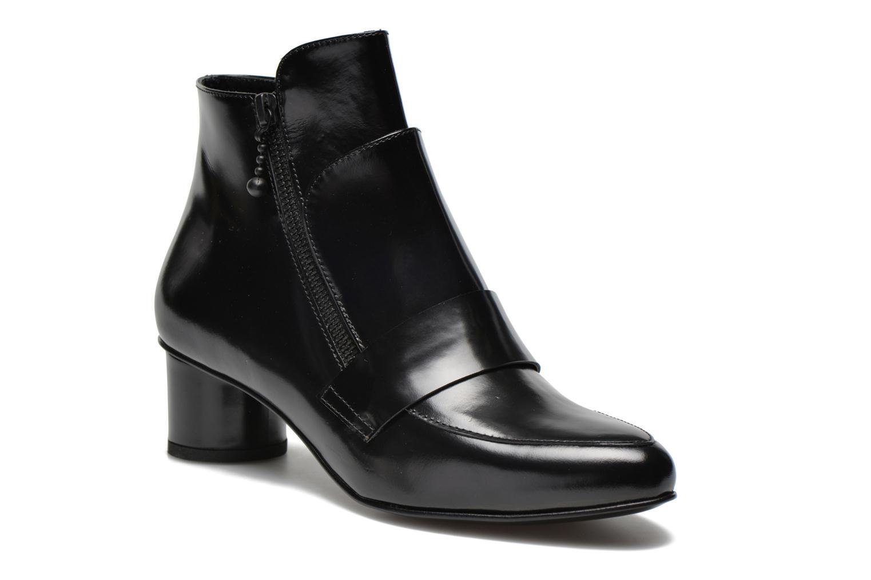Ankelstøvler Opening Ceremony Shiny Leather Zan Loafer Bootie Sort detaljeret billede af skoene