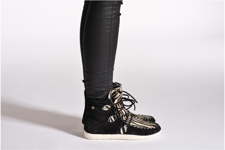 Stiefeletten & Boots Yum Gum Aspen Animal schwarz ansicht von unten / tasche getragen