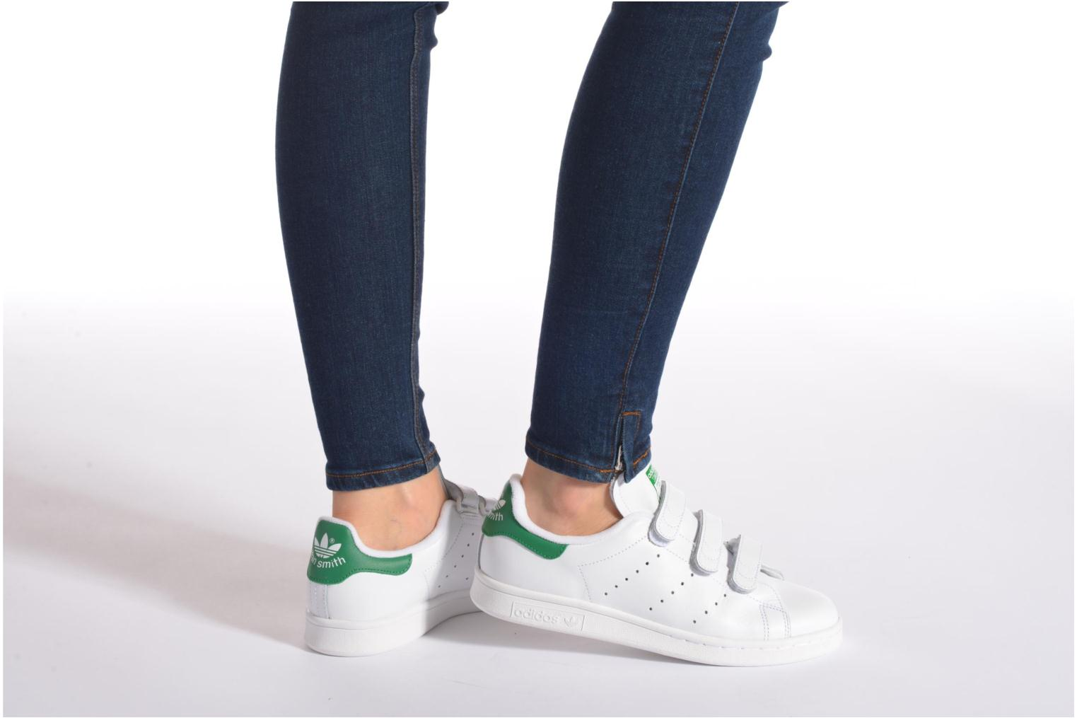 Baskets Adidas Originals Stan Smith Cf W Blanc vue bas / vue portée sac