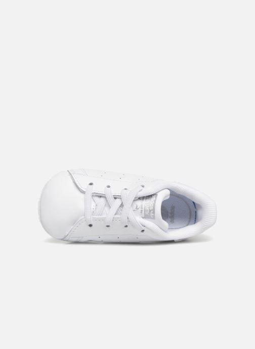 Sneaker adidas originals Stan Smith Crib weiß ansicht von links