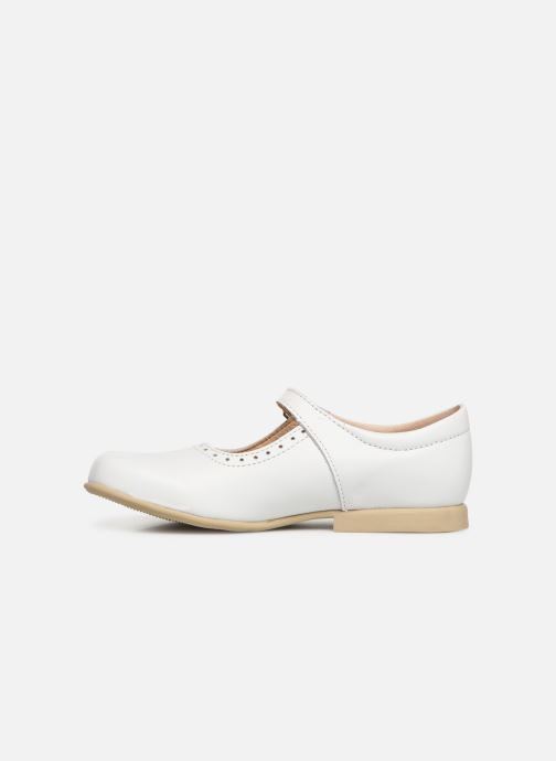 Ballerines Bopy Savenay Blanc vue face