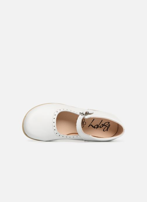 Ballet pumps Bopy Savenay White view from the left