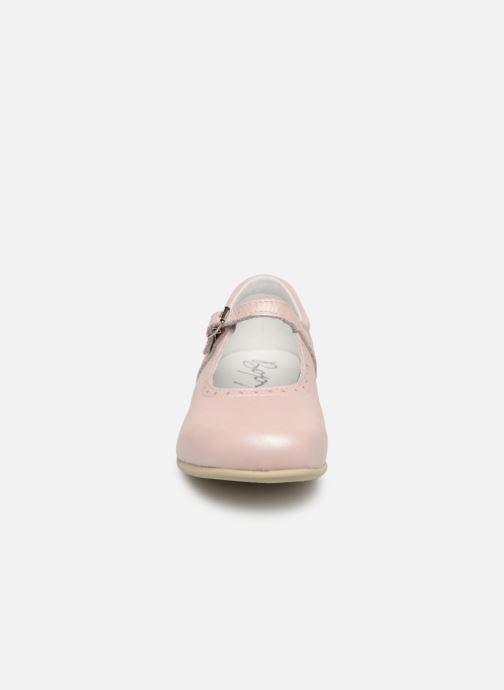 Ballerines Bopy Savenay Rose vue portées chaussures