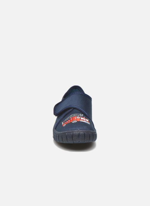 Pantuflas Superfit Bill Azul vista del modelo