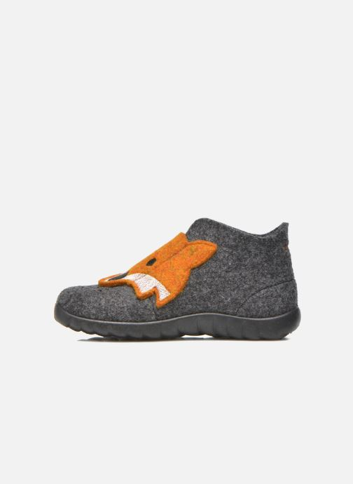 Pantuflas Superfit Happy Gris vista de frente