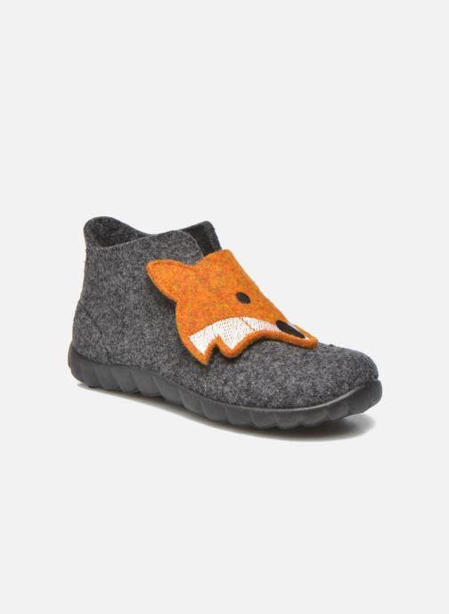 Pantuflas Superfit Happy Gris vista de detalle / par