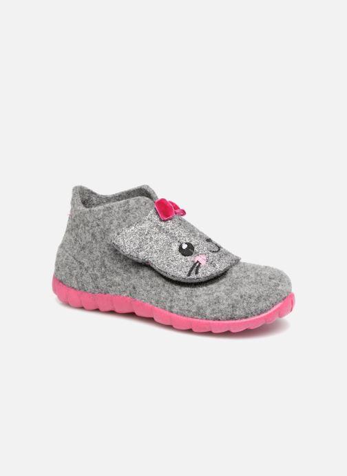7bc084edbdde Hjemmesko Superfit Happy Grå detaljeret billede af skoene