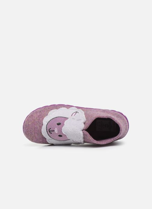 Pantuflas Superfit Happy Rosa vista lateral izquierda