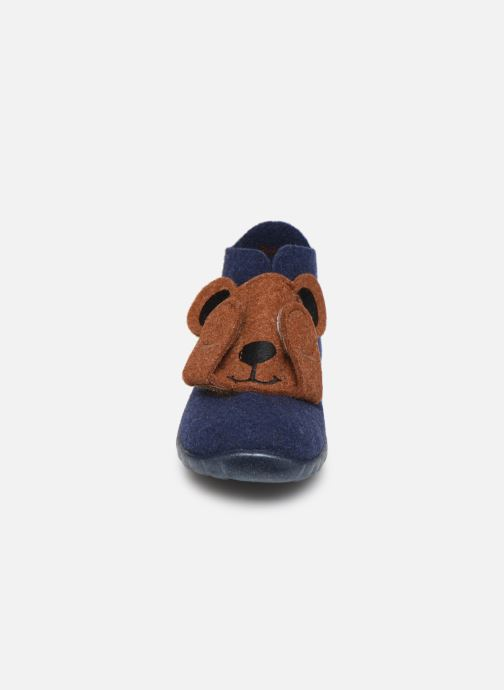 Pantuflas Superfit Happy Azul vista del modelo