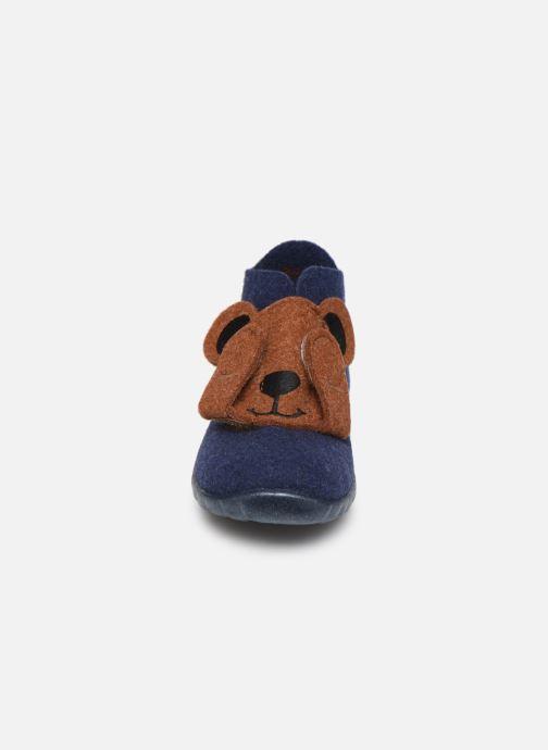 Chaussons Superfit Happy Bleu vue portées chaussures