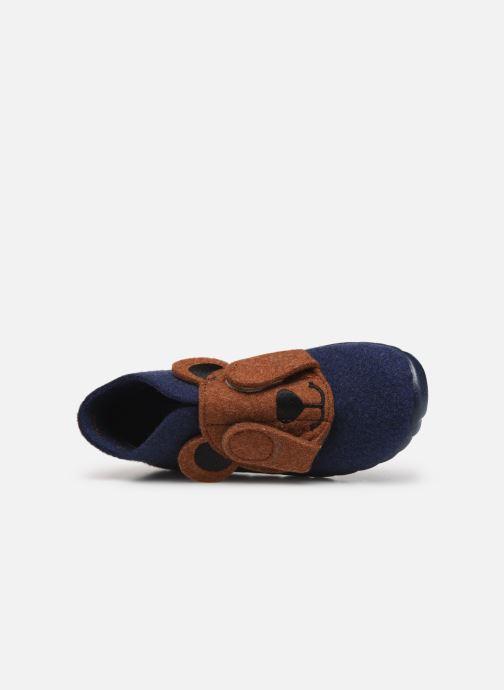Pantoffels Superfit Happy Blauw links