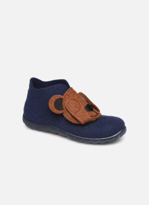 Hjemmesko Superfit Happy Blå detaljeret billede af skoene