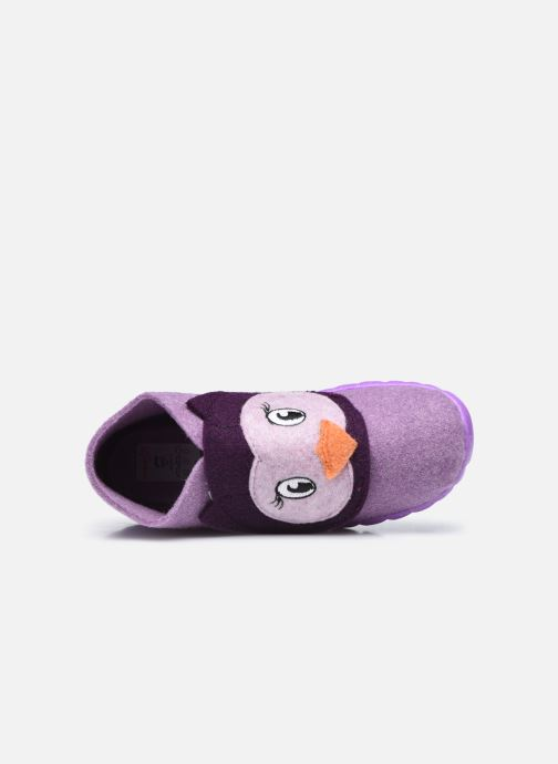 Pantuflas Superfit Happy Violeta      vista lateral izquierda