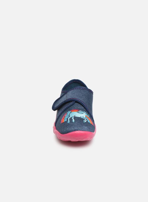 Chaussons Superfit Bonny Bleu vue portées chaussures